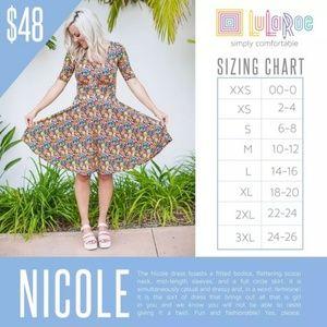 LuLaRoe Dresses - Lularoe Small NEW STYLE Nicole Dress
